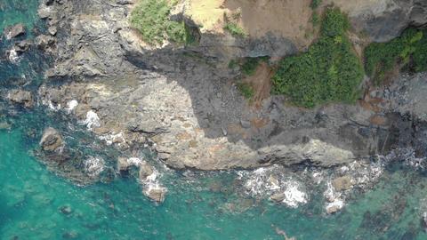 Aerial Of Waves Crashing Archivo