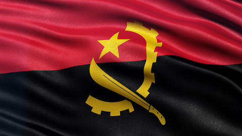 4K Angola flag seamless loop Animation