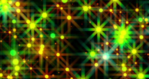 Field Of Glow Colored Stars Flowing Loop Background Animation