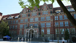 Main building of the University of Technology in Gdansk, Poland ビデオ