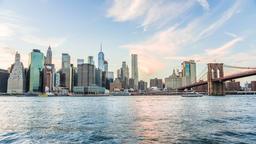 4k timelapse, time lapse of New York City skyline at sunset, dusk, twilight Footage
