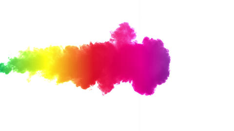 Rainbow Colored SMoke Background Stock Video Footage