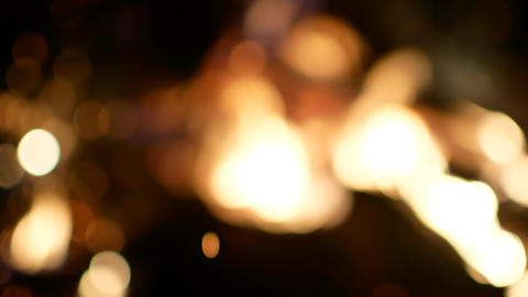 Sparklers. Sparks. Bengal Fire Lights. Bokeh. Background. Christmas. New Year Footage