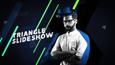 Triangle Slideshow After Effects Template
