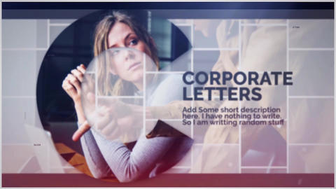 Corporate Letters Premiere Pro Template