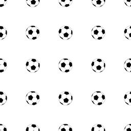 Soccer ball seamless pattern Vector