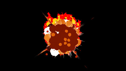 Fire Explosion Cartoon Flash Pack Animation