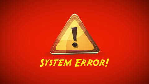 System Error Warning Background Animation