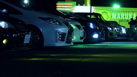 Customcar night meeting in japan Live Action