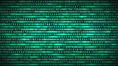 Binary Code Data Security Distort Background Animation