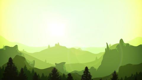 Summer Mountains Sunrise Background Clip Animation