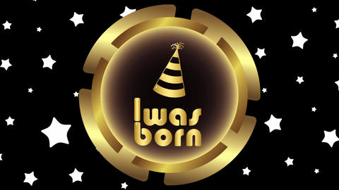 Was born gold icon on stars Animation