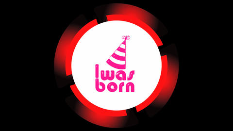 Was born red icon on black Animation