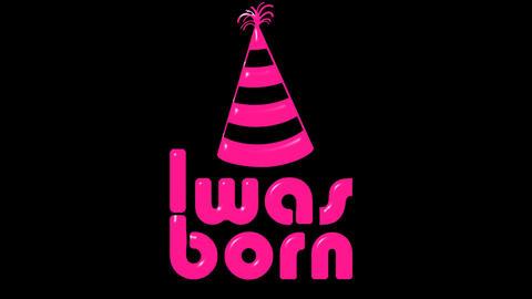 Was born pink on black Animation