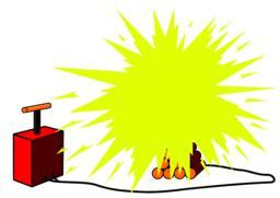 Dynamite sticks with detonator ベクター