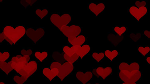 Falling Hearts Loopable Overlay Motion Graphic Element Animation