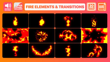Fire Elements And Transitions Premiere Pro Template