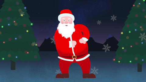 Santa Claus Christmas Dance Animation