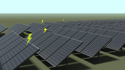 Solar Panel Farm Animation