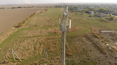 Cellular tower. Equipment for relaying cellular and mobile signal. Cellular tower Live Action