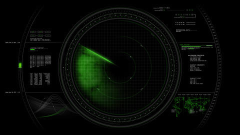 Radar HUD Animation 4K Animation