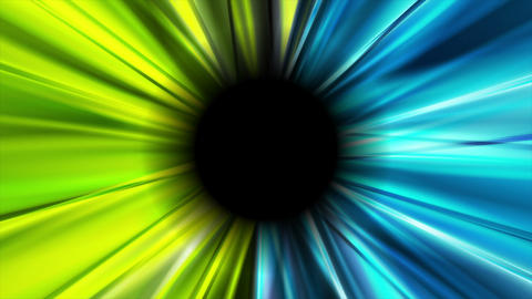 Bright blue and green glowing beams video animation Animation
