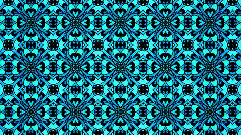 Mandala Flouer Back ground Kaleidoscopic loop animation CG動画素材