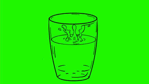 Drop of Water Dripping on Glass Drawing 2D Animation Animation