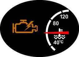 Check Engine Warning Symbol Icon ベクター
