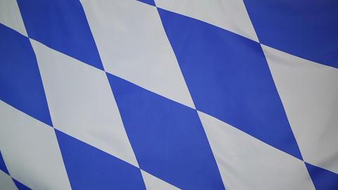 Flag of Bavaria, Germany Footage