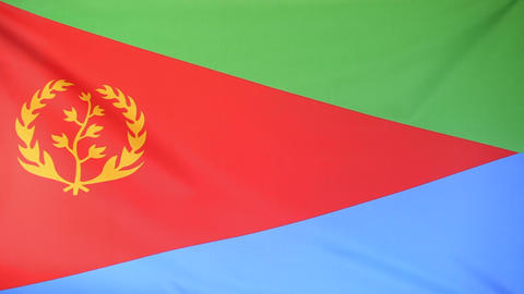 Flag of Eritrea Footage