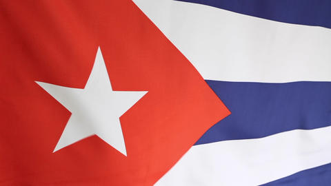National flag of Cuba Footage