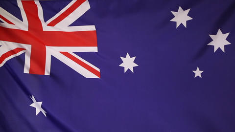 Textile flag of Australia Live Action