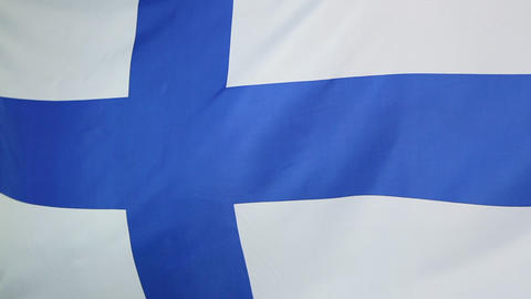 Flag of Finland in slow motion Footage