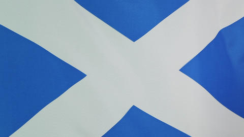 National flag of Scotland in slow motion Footage