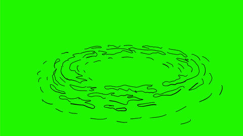 Whirlpool Swirling Drawing 2D Animation Animation