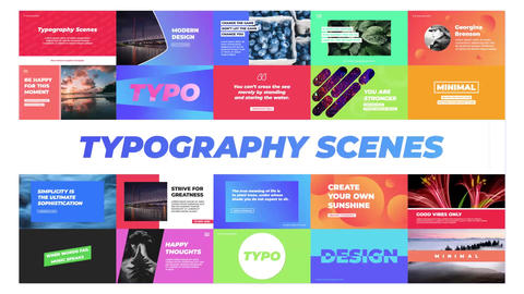 Typography Scenes Motion Graphics Template