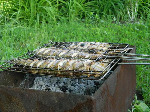 Fish grill Fotografía