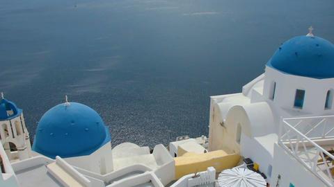 Classic Oia Santorini scene Footage