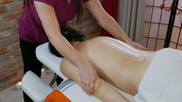 Woman is receiving massage Footage