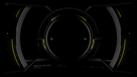 Flight Cockpit HUD Overlay 01 Animation