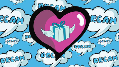 Winged gift in heart and dreams Animation