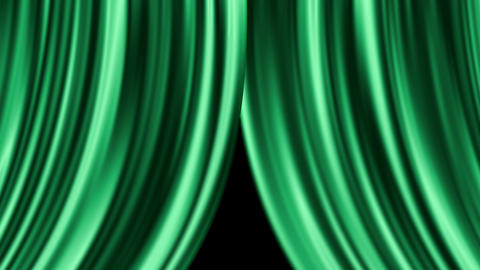 Curtain close - Green (with alpha) Animation