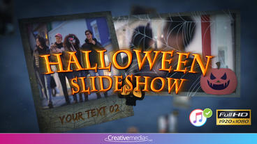 Halloween Slideshow - After Effects Template Plantilla de After Effects