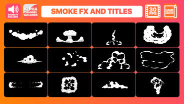 Hand Drawn Smoke FX and Titles folder After Effects Template