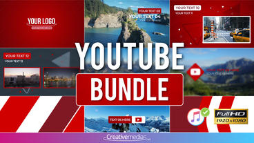Youtube Bundle – Apple Motion and Final Cut Pro X Template Apple Motion Template