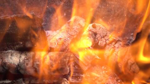 Burning Fire Splash Slow Motion GIF
