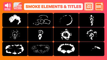 Flash FX Smoke Elements And Titles Motion Graphics Template