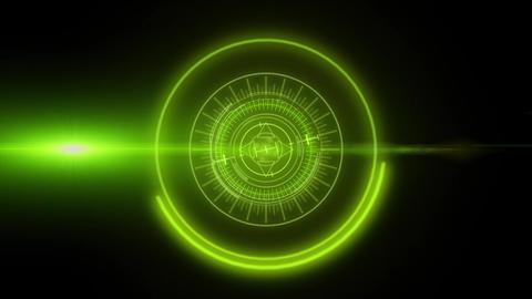 Hi-tech Hud Elements Interface Stock Video Footage