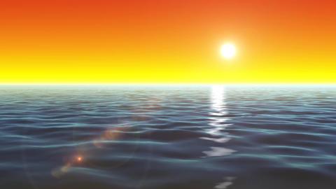 4k Cool Ocean Background Loop Animation